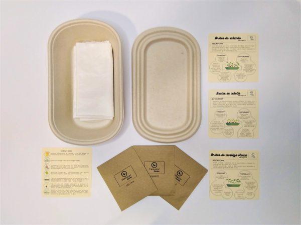 Contenido del kit de brotes ecológicos